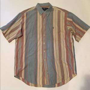 Ralph Lauren Multi-color Short Sleeve Button Shirt
